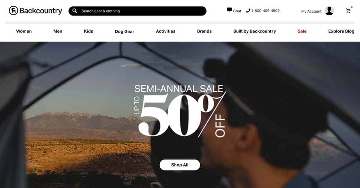 Backcountry | Looking for ways to save money on outdoor gear? Here are the best onlinestores to buy discount outdoor gear.