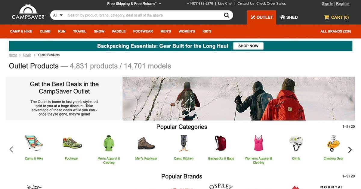 CampSaver | Looking for ways to save money on outdoor gear? Here are the best onlinestores to buy discount outdoor gear.