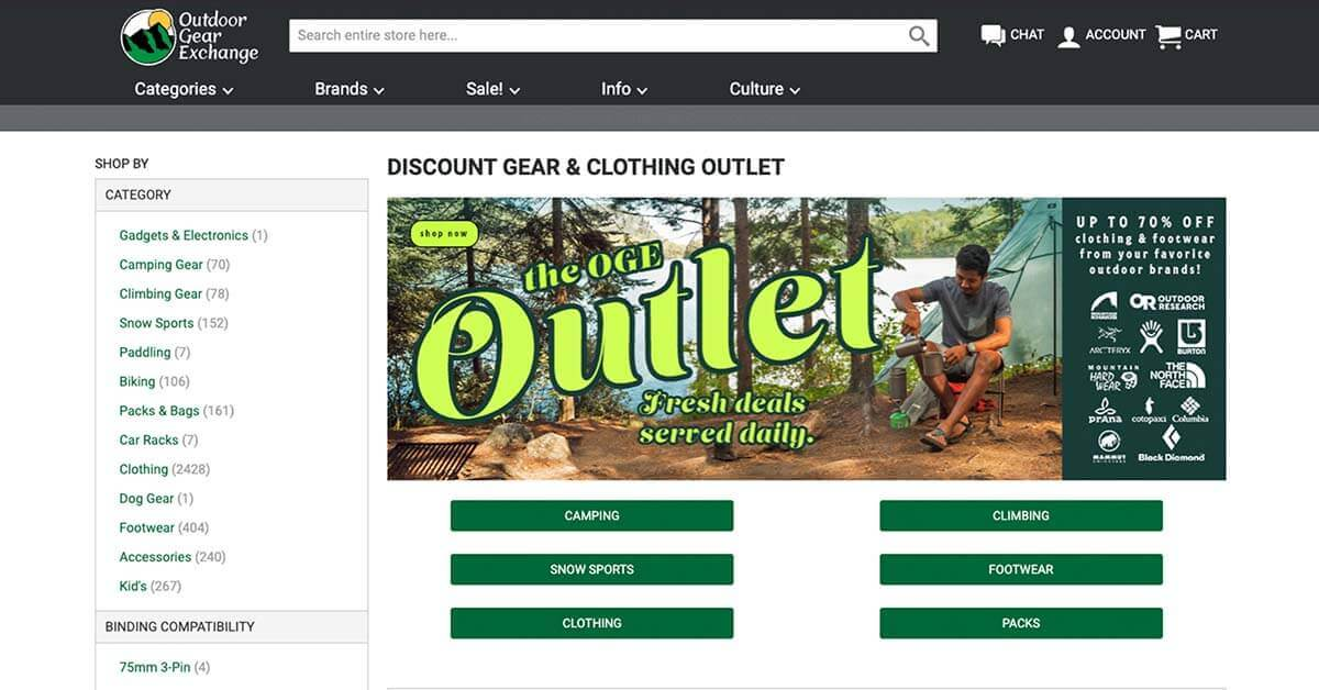 Outdoor Gear Exchange | Looking for ways to save money on outdoor gear? Here are the best onlinestores to buy discount outdoor gear.