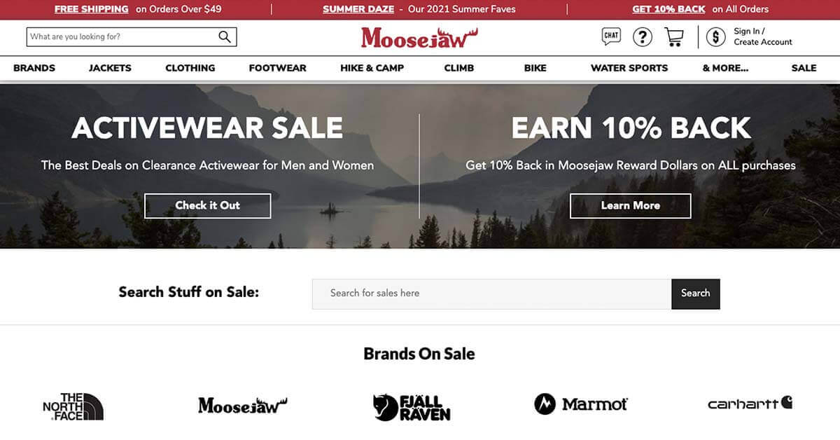 Moosejaw | Looking for ways to save money on outdoor gear? Here are the best onlinestores to buy discount outdoor gear.