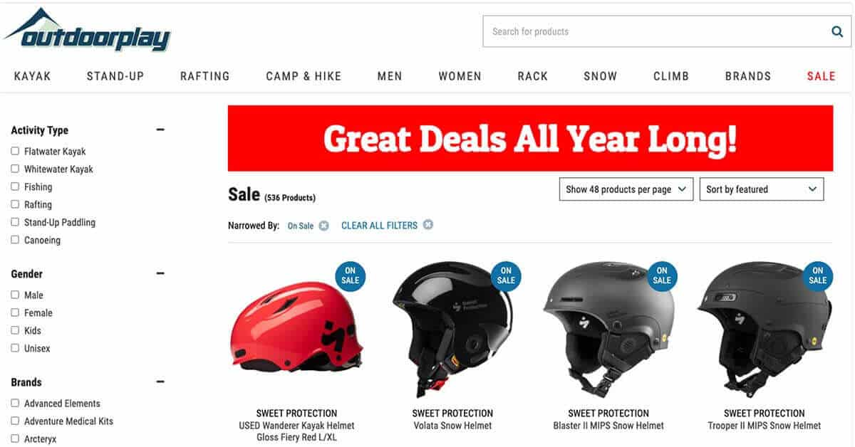 Outdoorplay | Looking for ways to save money on outdoor gear? Here are the best onlinestores to buy discount outdoor gear.