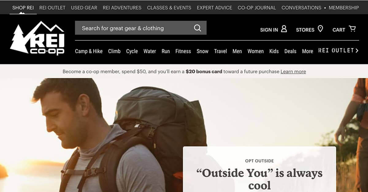 REI Co-Op | Looking for ways to save money on outdoor gear? Here are the best onlinestores to buy discount outdoor gear.