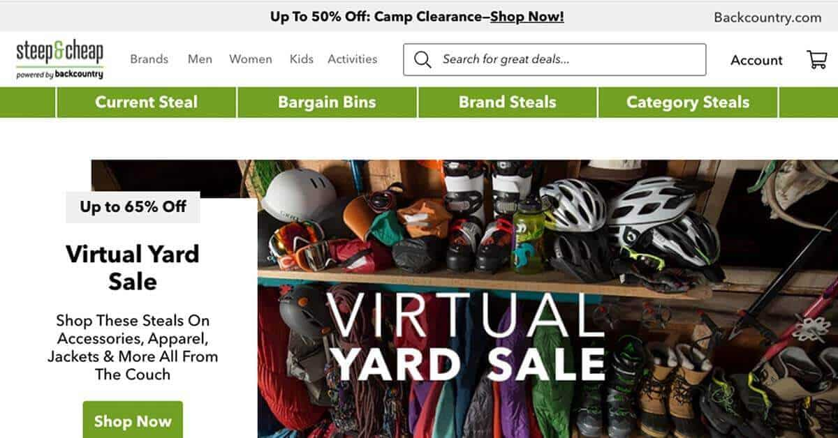 Steep & Cheap | Looking for ways to save money on outdoor gear? Here are the best onlinestores to buy discount outdoor gear.