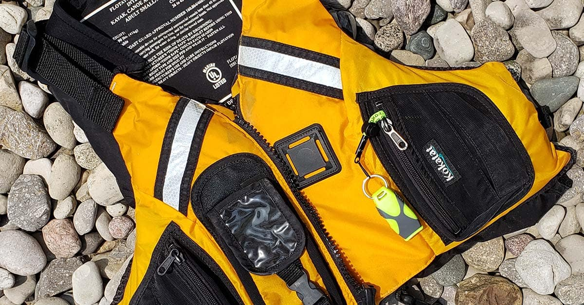 My Kokatat PFD with the Fox 40 Sharx. The slip resistant covering of the Sharx safety whistle is perfect for use on the water.