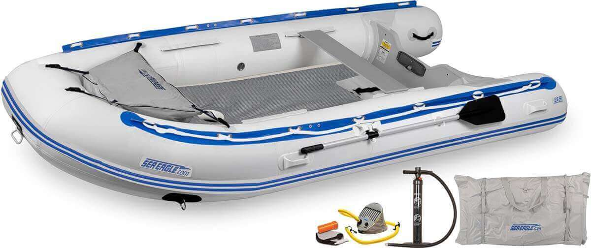The 126SRDK_D Sea Eagle 12'6″ Sport Runabout Inflatable Boat - Drop Stitch Deluxe Package.
