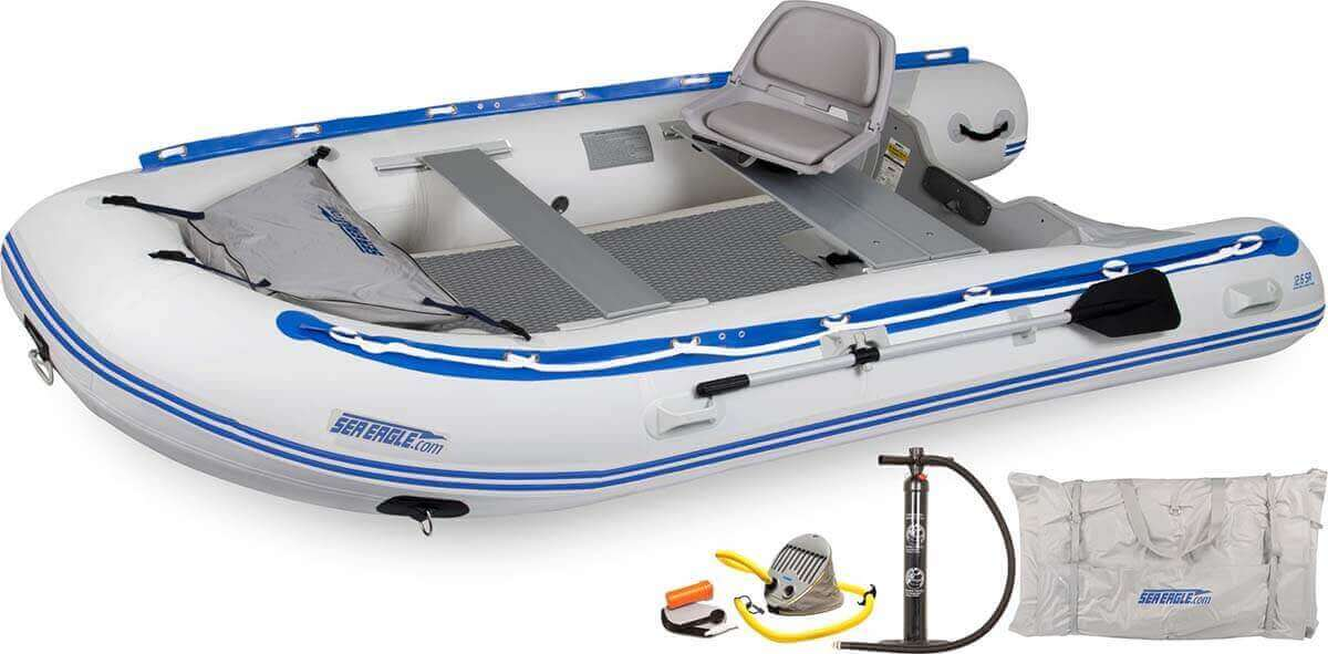 The 126SRDK_SW Sea Eagle 12'6″ Sport Runabout Inflatable Boat - Drop Stitch Swivel Seat Package.