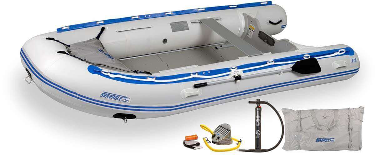 The 126SRK_D Sea Eagle 12'6″ Sport Runabout Inflatable Boat - Deluxe Package.