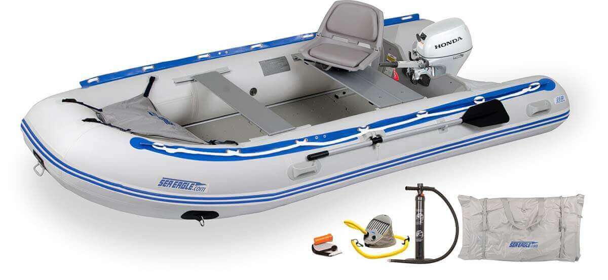 The 126SRK_HM Sea Eagle 12'6″ Sport Runabout Inflatable Boat - Swivel Seat Honda Motor Package.
