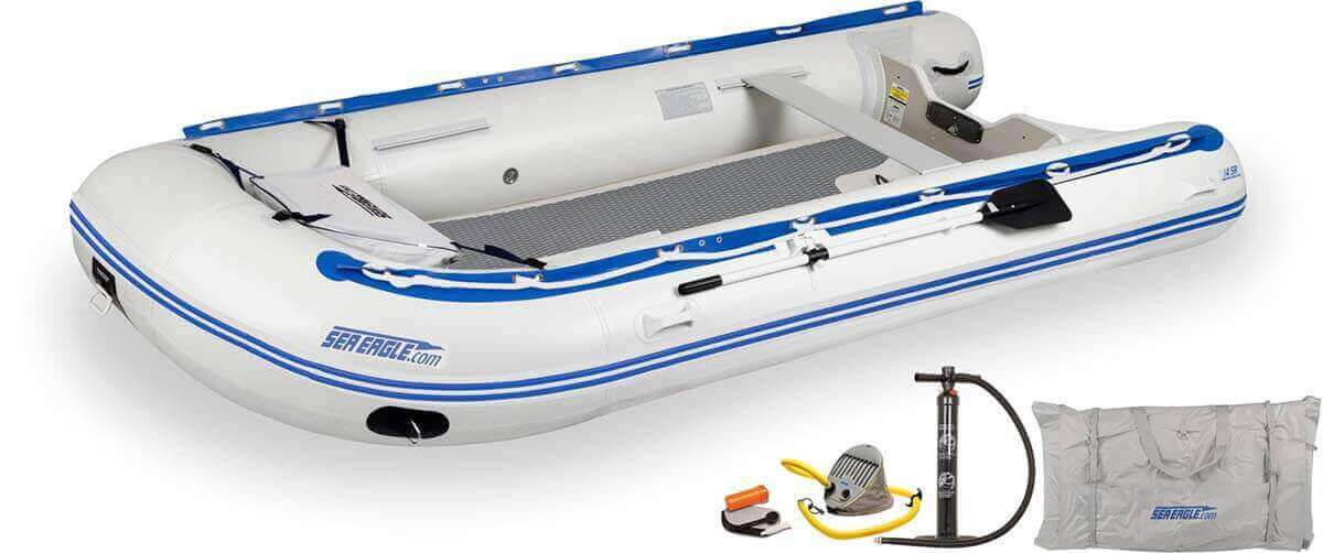 The 14SRDK_D Sea Eagle 14' Sport Runabout Inflatable Boat - Drop Stitch Deluxe Package.
