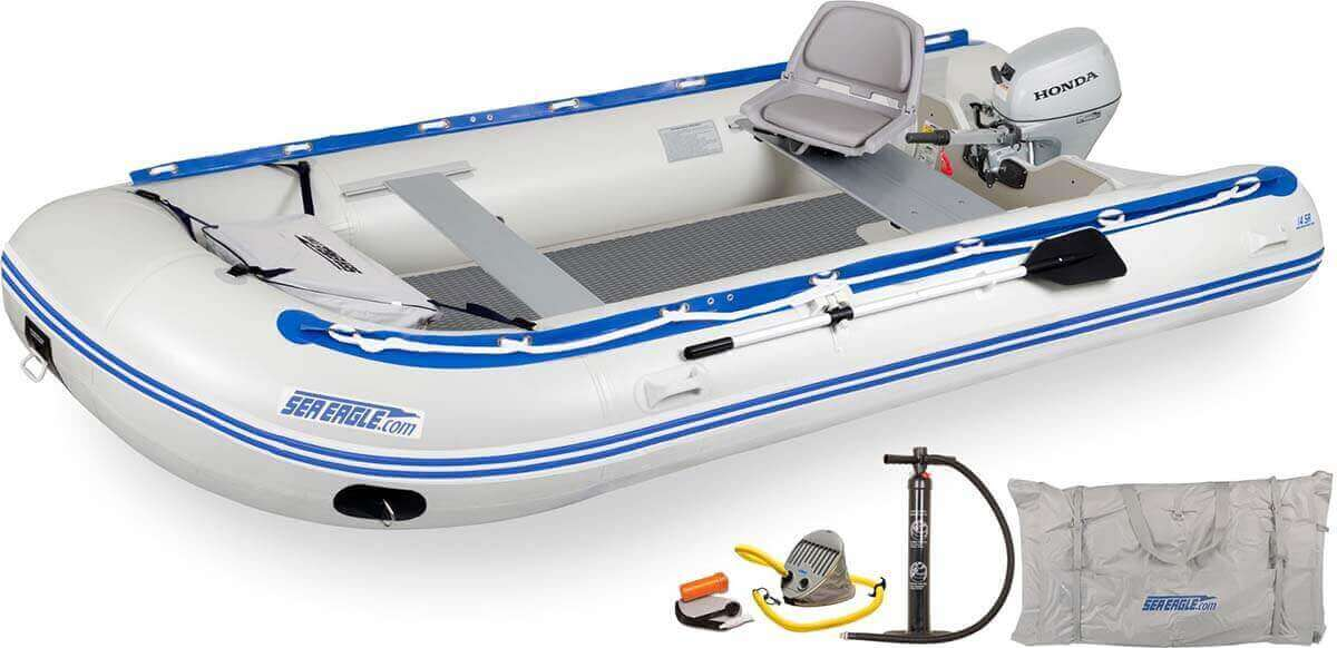 The 14SRDK_HM Sea Eagle 14' Sport Runabout Inflatable Boat - Drop Stitch Swivel Seat Honda Motor Package.