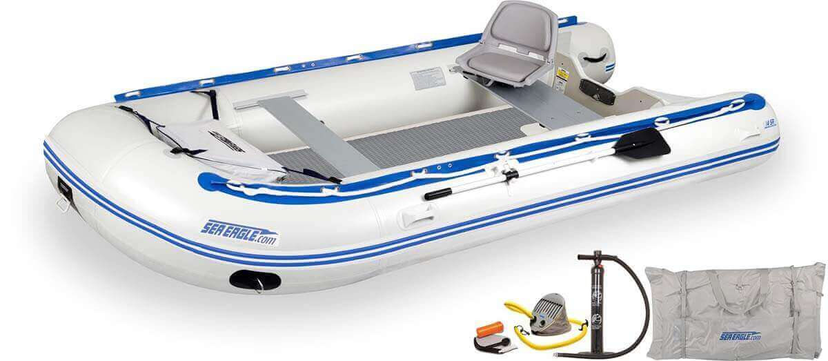 The 14SRDK_SW Sea Eagle 14' Sport Runabout Inflatable Boat - Drop Stitch Swivel Seat Package.