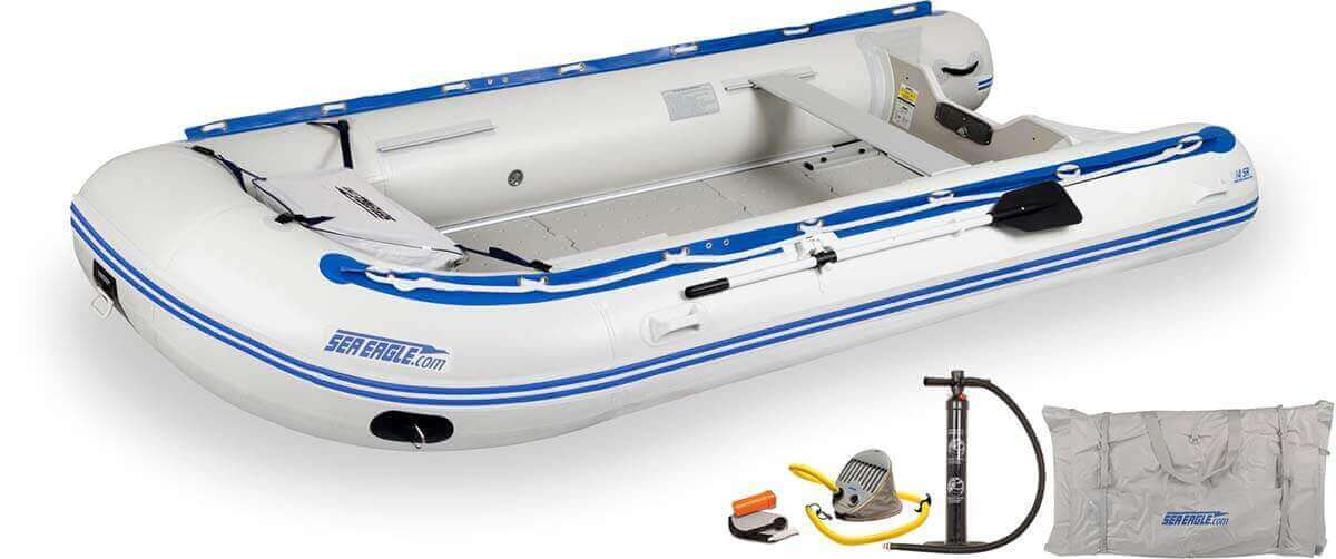 The 14SRK_D Sea Eagle 14' Sport Runabout Inflatable Boat - Deluxe Package.