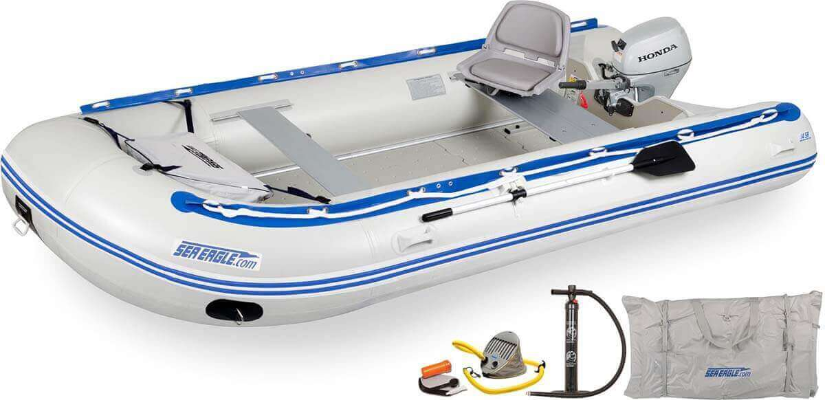 The 14SRK_HM Sea Eagle 14' Sport Runabout Inflatable Boat - Swivel Seat Honda Motor Package.