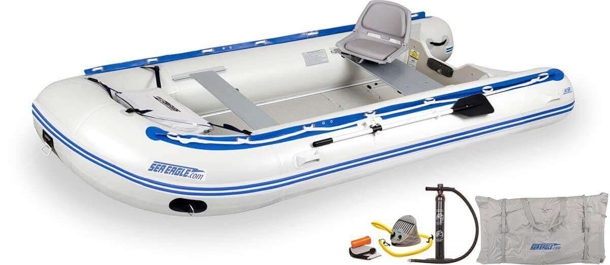 The 14SRK_SW Sea Eagle 14' Sport Runabout Inflatable Boat - Swivel Seat Package.