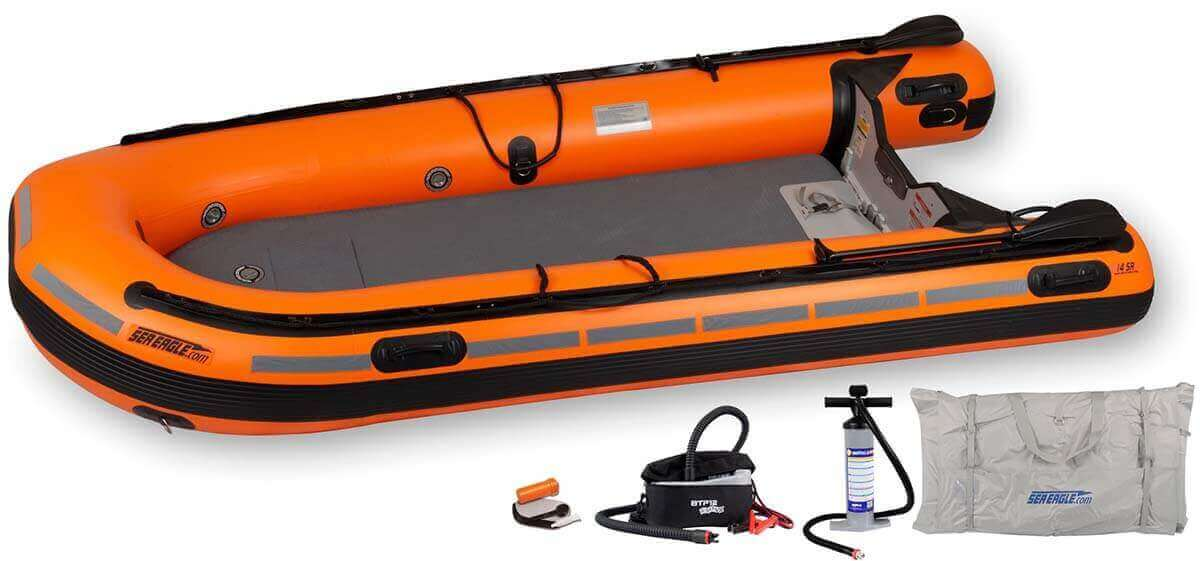 The RESCUE14K_RE Sea Eagle Rescue14 Sport Runabout Inflatable Boat - Rescue Package.