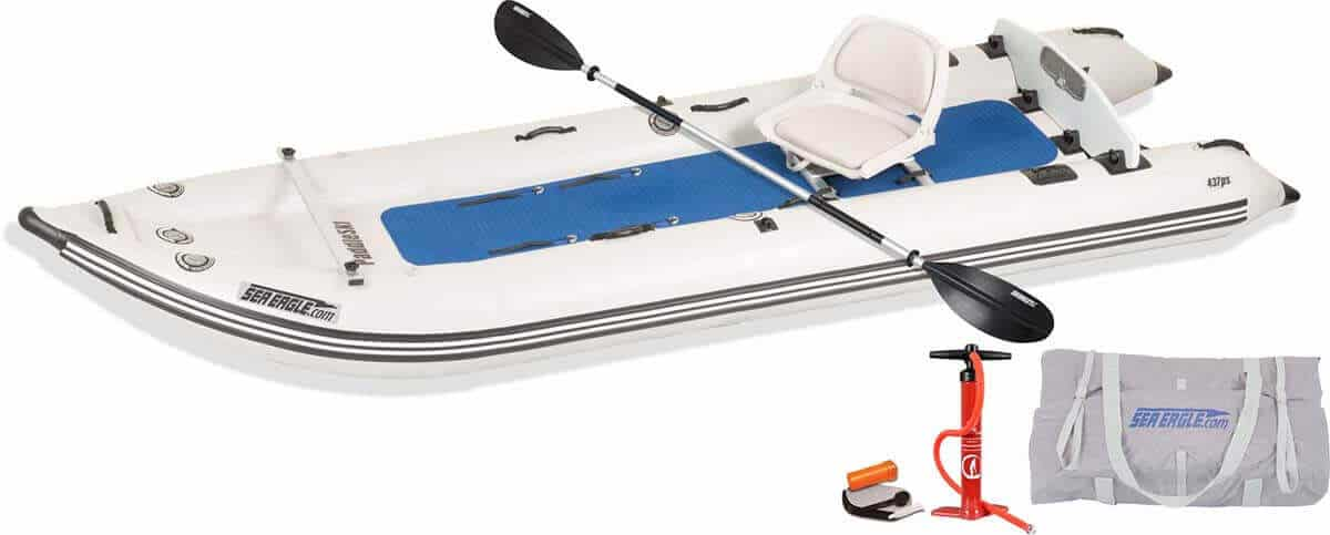 The Sea Eagle 437ps PaddleSki Solo Start-up Package.