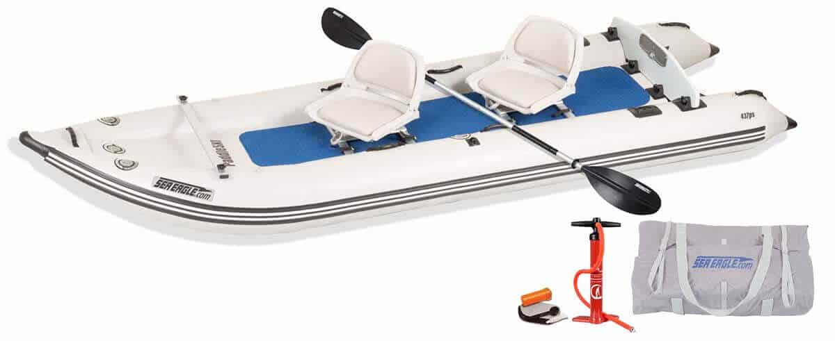 The Sea Eagle 437ps PaddleSki 2 Person Swivel Seat Package.