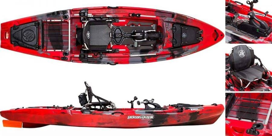 A feature overview and review of the Jackson Kayak Big Rig FD fishing kayak.