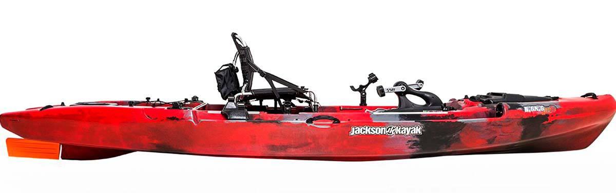 Side view of the Jackson Kayak Big Rig FD fishing kayak.